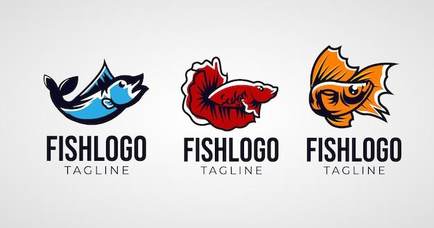 Satz des einfachen abstrakten fischlogodesigns