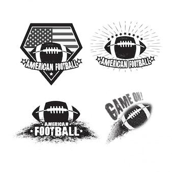 Satz des emblems des amerikanischen fußballs