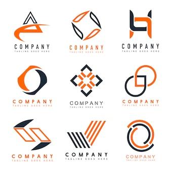 Satz des Firmenlogo-Designideenvektors