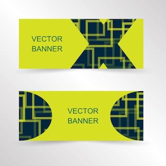 Satz des geometrischen banner-website-banner-vorlagen-designs