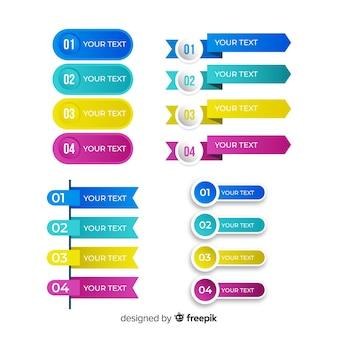 Satz des infographic elements der steigung