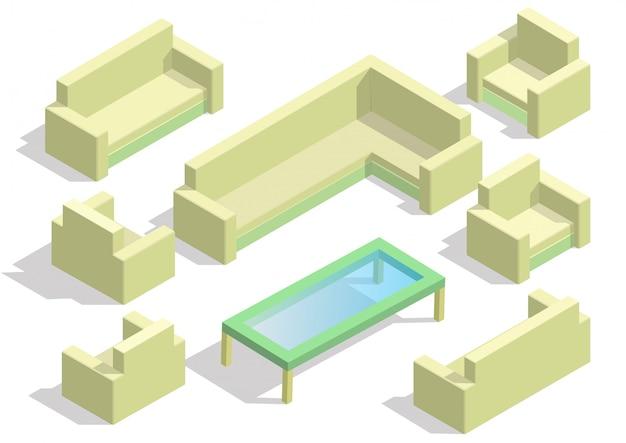 Satz des isolierten isometrischen sofas.