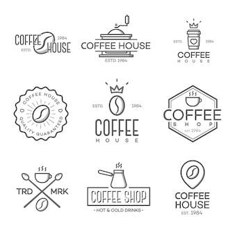 Satz des kaffeestubelogos lokalisiert