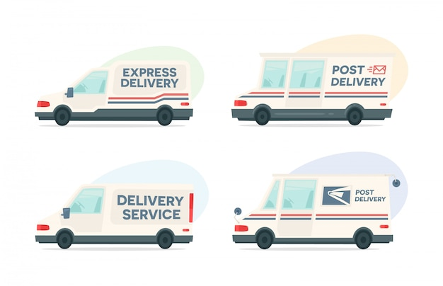 Satz des karikaturlieferungs-beitragsautos