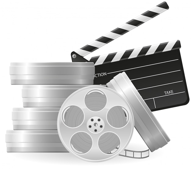 Satz des kinematographiekinos und des films vector illustration