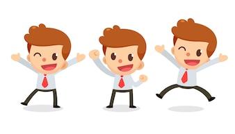 Satz des kleinen Geschäftsmanncharakters in den Aktionen