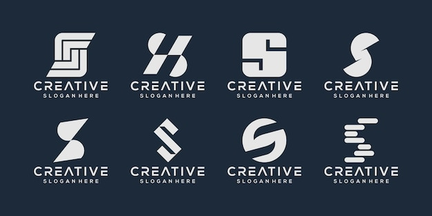 Satz des logo-designs des buchstabens