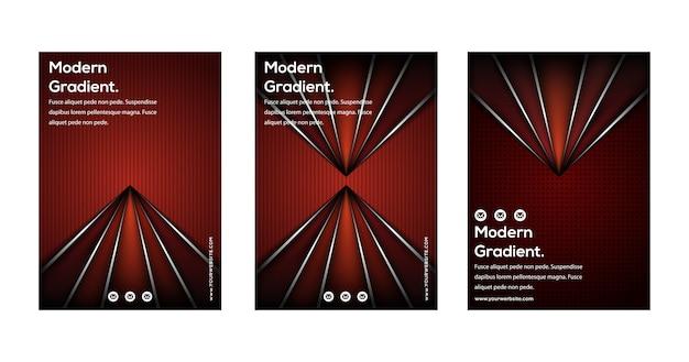 Satz des modernen geometrischen abstrakten plakats des hippies.