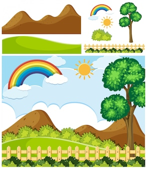 Satz des naturlandschaftselements
