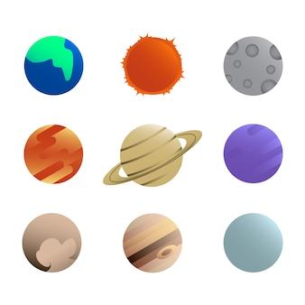 Satz des planeten-ikonen-vektors