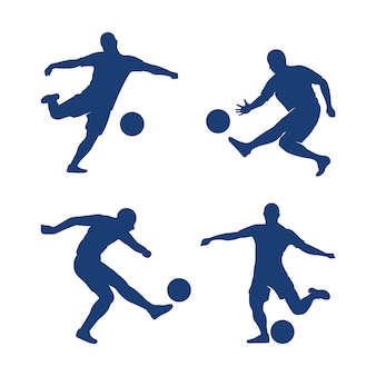 Satz des schuss-tätigkeits-fußball-illustrationsdesign vektors