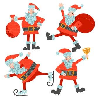 Satz des unterschiedlichen charakters niedlicher santa claus