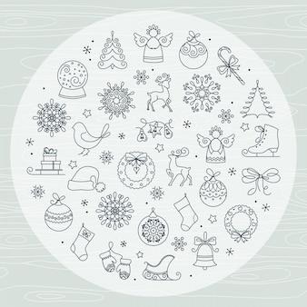 Satz des weihnachtsnahtlosen musters