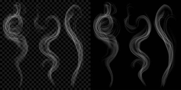 Satz durchscheinenden grauen rauch.