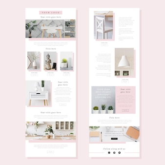 Satz e-commerce-e-mail-vorlage mit fotos