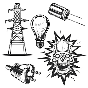 Satz elektrischer elemente