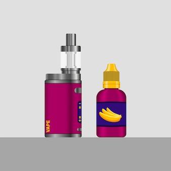 Satz elektronische zigaretten und e-liquid zum dampfen