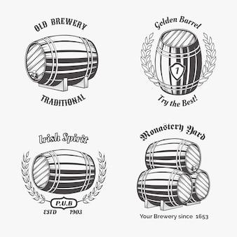 Satz etiketten des bierhauses.