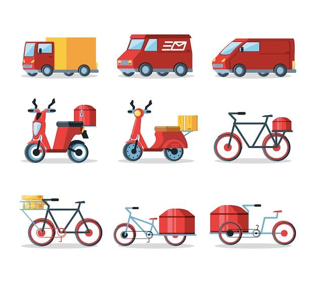 Satz fahrzeuge für logistikdienstleistung
