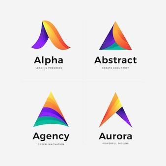 Satz farbverlauf eine logo-vorlage