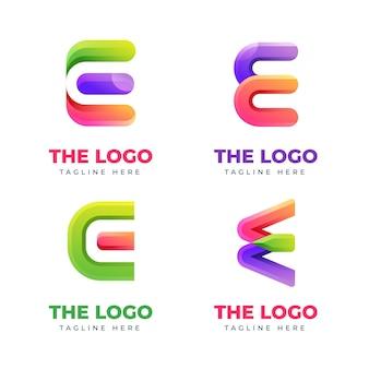 Satz farbverlauf o logo-vorlagen