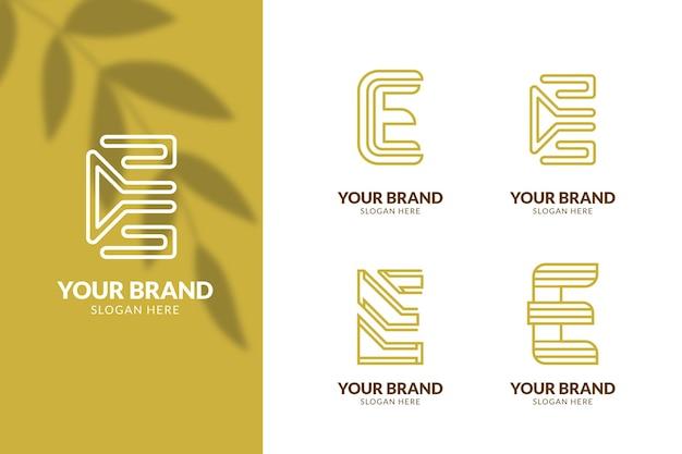 Satz flache e-logo-vorlagen