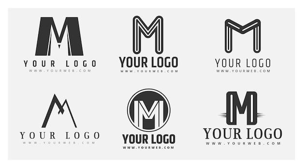 Satz flache m logo-vorlagen