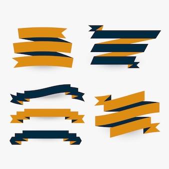 Satz flache prämienbänder