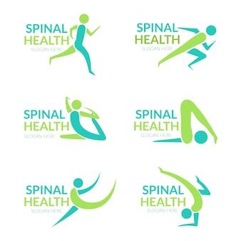 Satz flacher logovorlagen für physiotherapie
