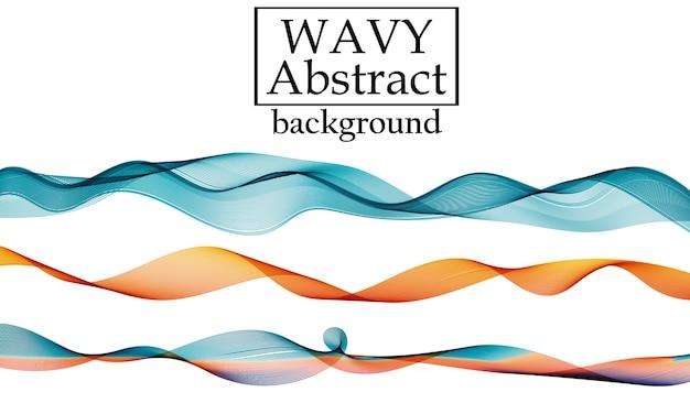 Satz flüssige bunte formen. flüssigkeitswellenhintergrund. abstrakte 3d fließende farben. flow design.