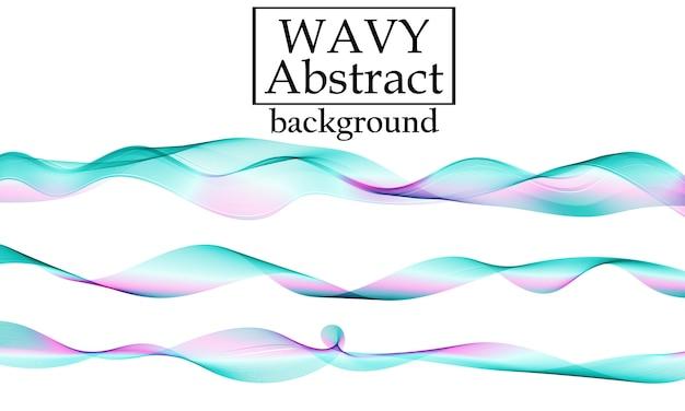 Satz flüssige bunte formen. flüssigkeitswellenhintergrund. abstrakte fließende farben. fließen .