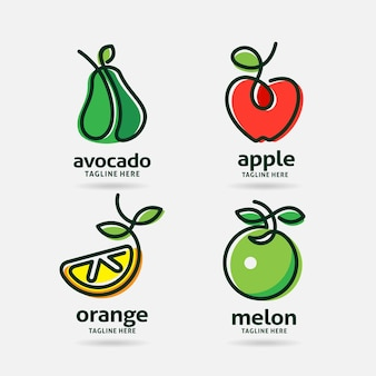 Satz fruchtlogo-design
