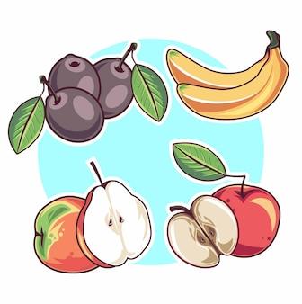 Satz früchte illustration
