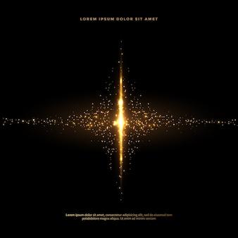 Satz funkelnde staubendstücke in der goldenen art, goldener funkelnzusammenfassungshintergrund