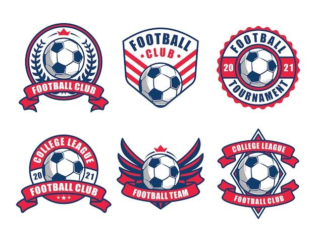 Satz fußball-logo oder fußballverein-abzeichen.