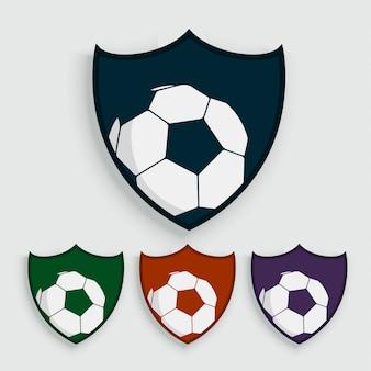 Satz Fußball- oder Fußballaufkleber