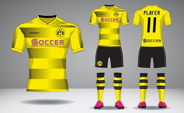 Satz fußballausrüstung, sport t-shirt design.