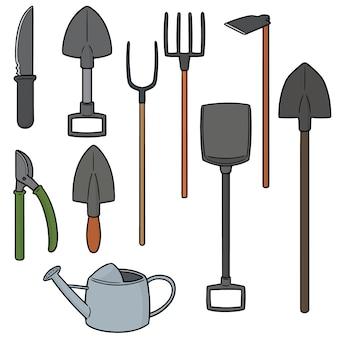 Satz gartenarbeitwerkzeug