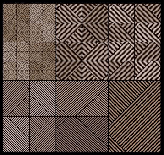 Satz geometrische texturdrucke mit streifen