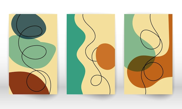 Satz geometrischer formen. abstrakte handgezeichnete aquarell-effekt-design-elemente. moderner kunstdruck. zeitgenössisches design mit doodle-formen.