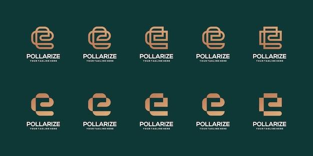 Satz geschäftsvorlage des buchstaben e-logos