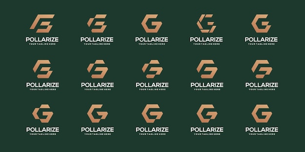 Satz geschäftsvorlage des buchstaben g-logos