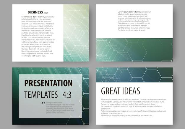 Satz geschäftsvorlagen für präsentationsfolien