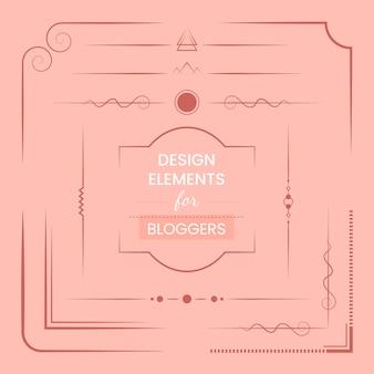 Satz gestaltungselemente für bloggervektor