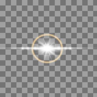 Satz goldfunken isoliert. vektor leuchtende sterne.