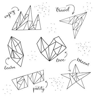 Satz grafische elemente. vektor-illustration.