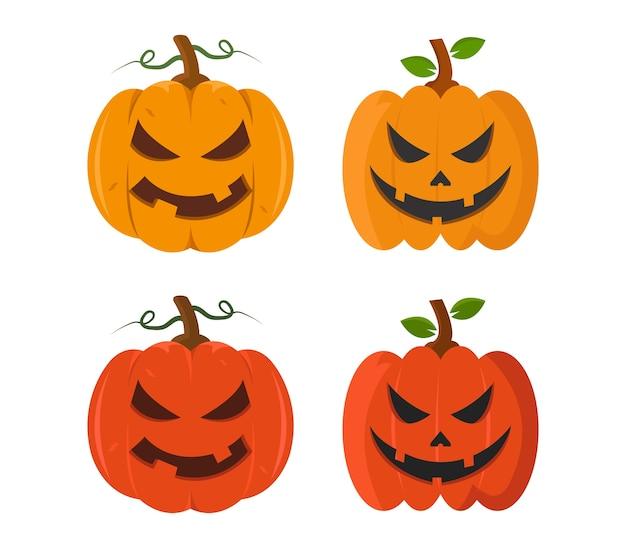 Satz halloween-kürbisse