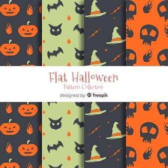 Satz halloween-muster