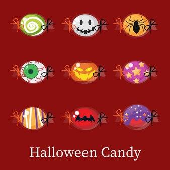 Satz halloween-süßigkeit.
