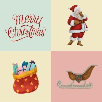 Satz hand gezeichnete weihnachtsillustrationen